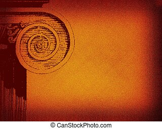 Background. Retro mode, rusty, with column detail