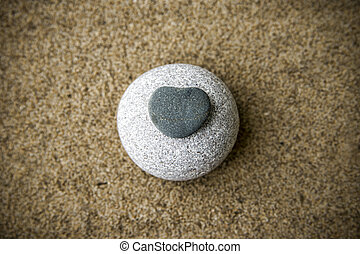 Background rocks and sand closeup. Beach. Copy space