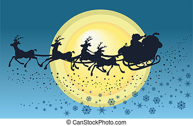 """Background """"Santa?s sleigh"""""""
