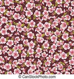 Background seamless pattern with sakura blossom
