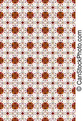 background seamless wallpaper- terracotta on a white