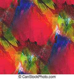 background seamless watercolor texture red, yellow, green abstract paper color paint pattern water design art