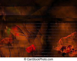 Background seasonal, abstract floral
