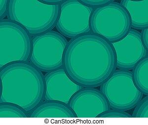 background set of volumetric light green balls