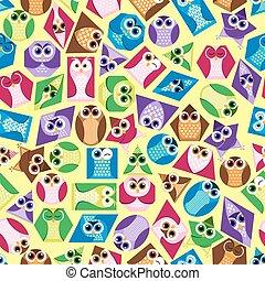 Background  shapes  owl 2