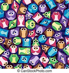 Background  shapes  owl 3