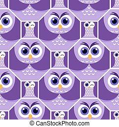 Background  shapes  owl 4