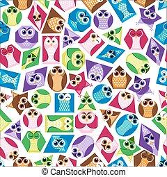 Background  shapes  owl