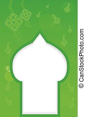 background - silhouette of mosque - vector background -...