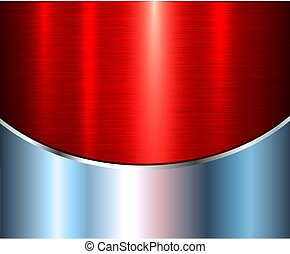 Background silver metallic red