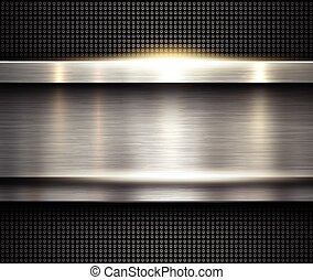 Background silver metallic, vector metal texture.