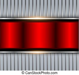 Background silver red metallic