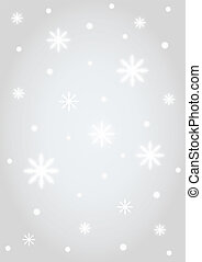 Background silver snowflakes