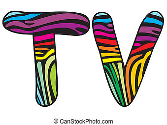 Background skin zebra letter T,V
