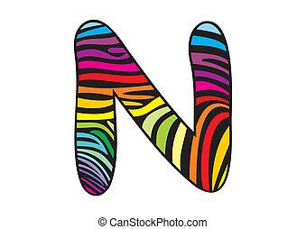 Background skin zebra shaped letter