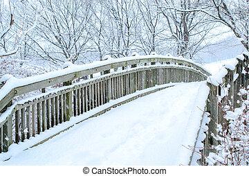 background snow on winter