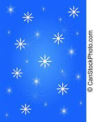 Background snowflakes blue white