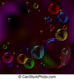 Background, soap bubbles, multi-coloured - Abstract vector...