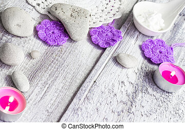 Background spa stones candles