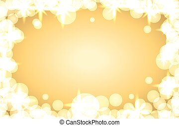 background sparkle gold - Gold sparkle frame abstract...
