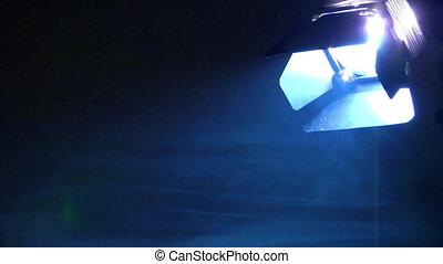 background spotlight down smoke loo