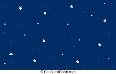 Background star on blue sky