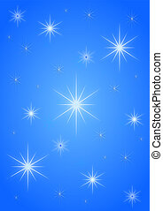 Background stars blue white