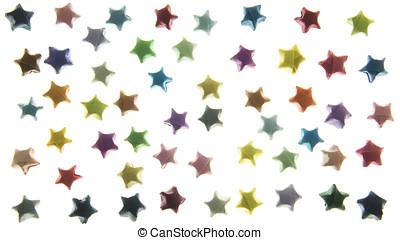background stars isolated on white