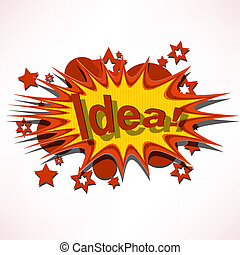 background stellar explosion - vector illustration ideas