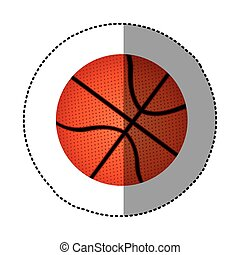 background sticker with basketball ball