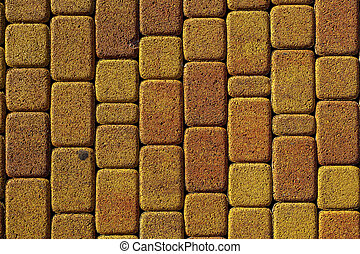 background stone pavement. road paved with cobbles. texture of bricks.