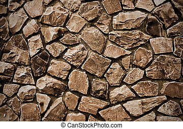background stone wall beige color close up