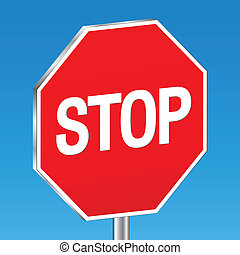 background stop sign