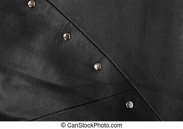 background. structure of the skin and rivets