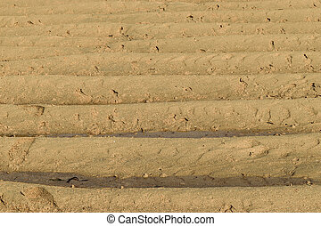 Background surface of sand in the beach during low tide
