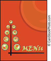 sushi menu - background sushi menu on new year or christmas
