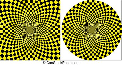 background taxi yellow black square circular design