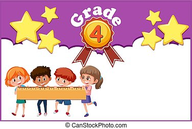 Background template design for children grade four