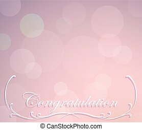 Background template for congratulation