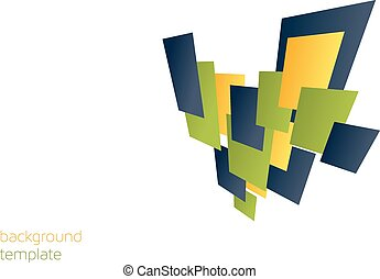 Background template with 3d colorful rectangles - great for...