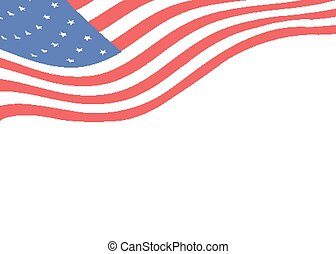 Background template with an American flag