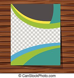 Background template with blue and green pattern