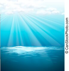 Background template with blue sea