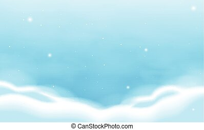 Background template with blue sky
