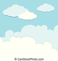 Background template with clouds in sky