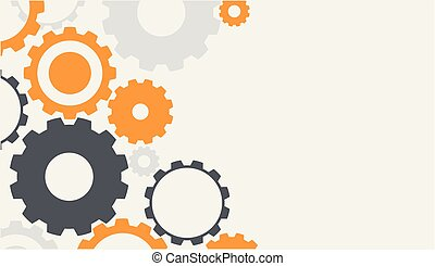 Background template with colorful gears