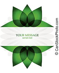 Background template with green flowers