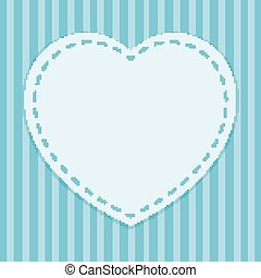 Background template with heart frame