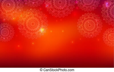 Background template with mandala patterns