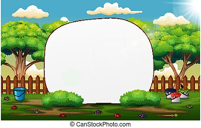 Background template with nature landscape